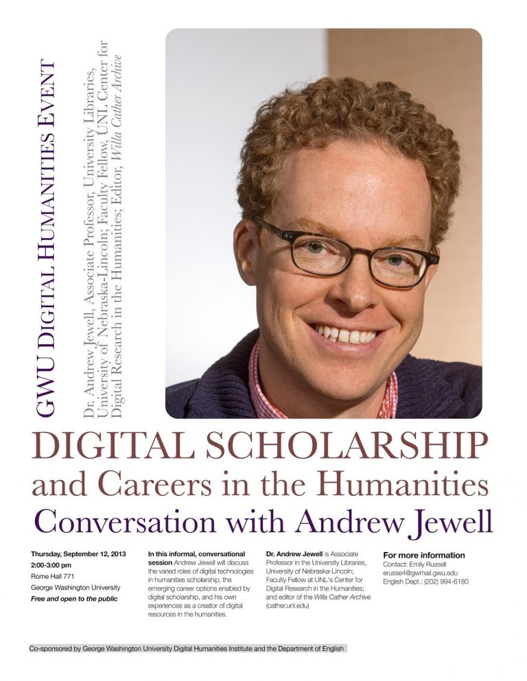 Andy Jewell (University of Nebraska-Lincoln): Digital Scholarship and Careers in the Humanities