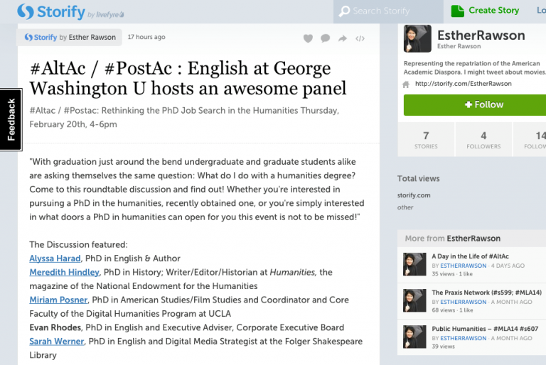 AltAc/PostAc: Rethinking the PhD Job Search in the Humanities