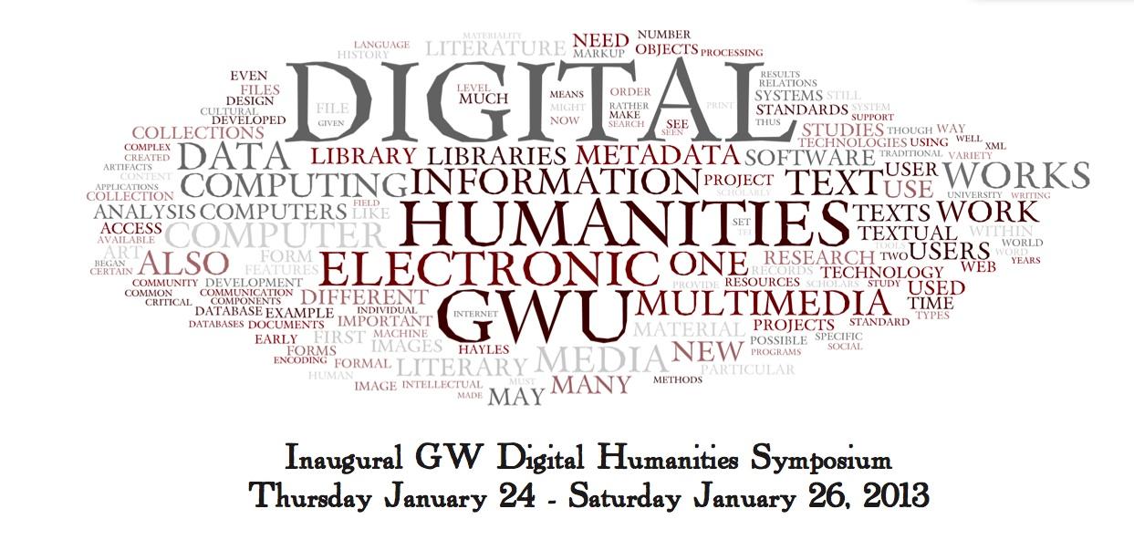 GW DH Symposium 2013 wordcloud