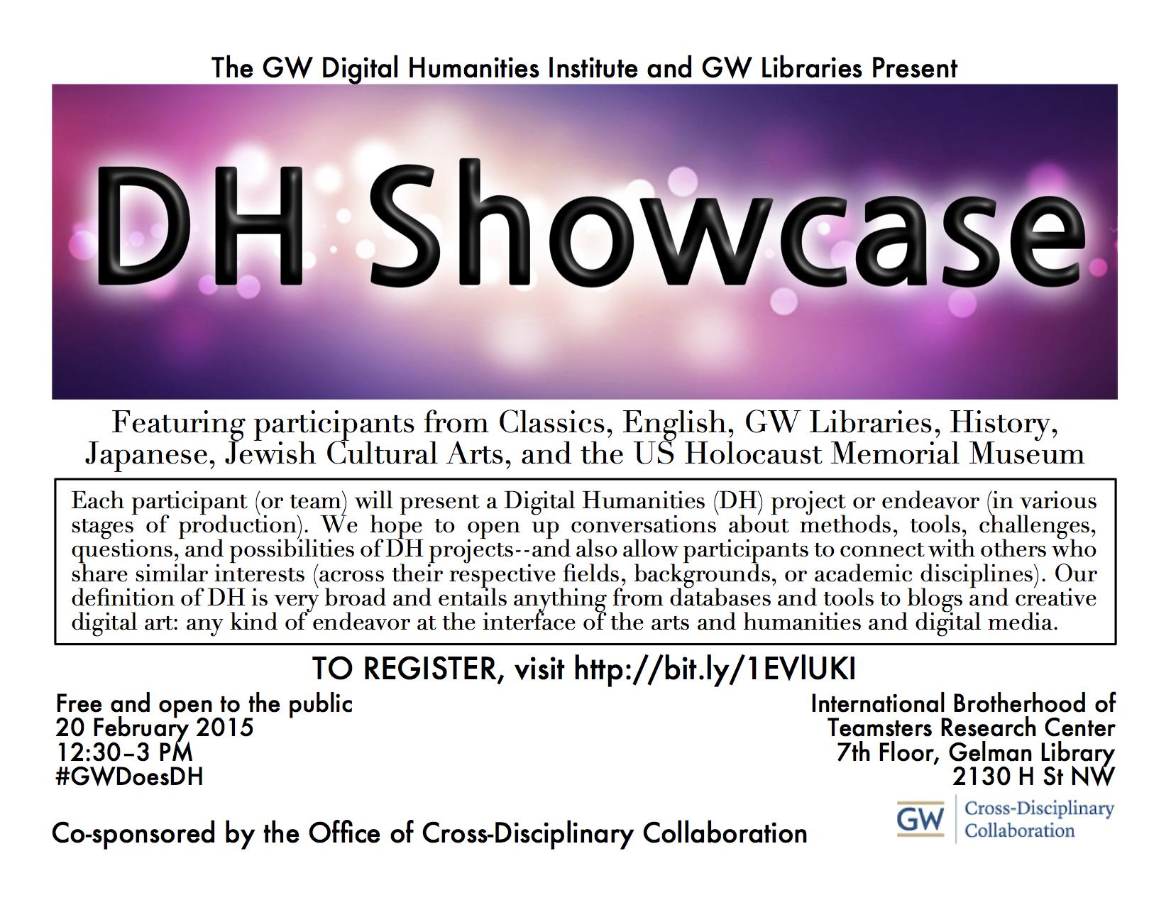 DH Showcase 2015 - flyer