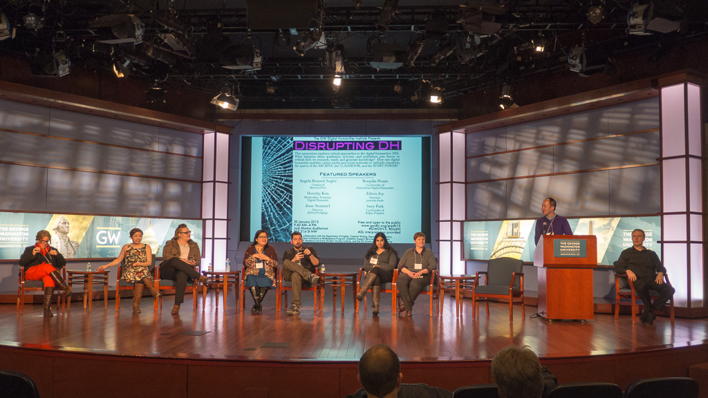 Final roundtable at the GW Digital Humanities Symposium 2015.