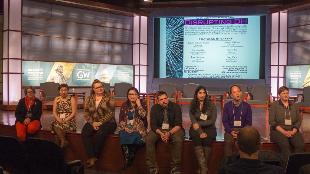 Conclusion of roundtable at GW Digital Humanities Symposium 2015.