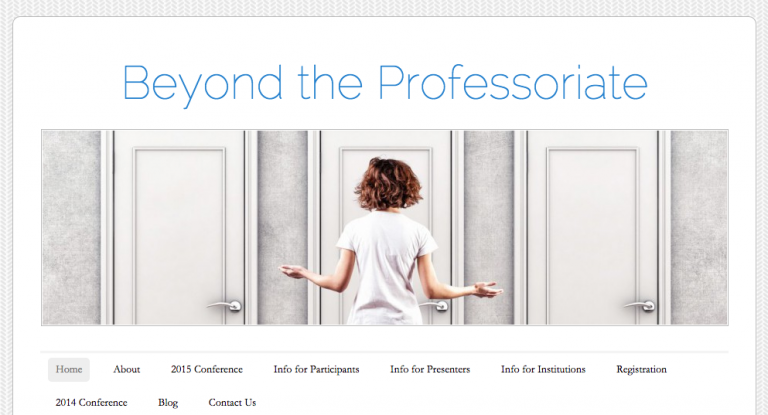 """""""Beyond the Professoriate"""" Virtual Conference (register by Wednesdgay April 29)"""