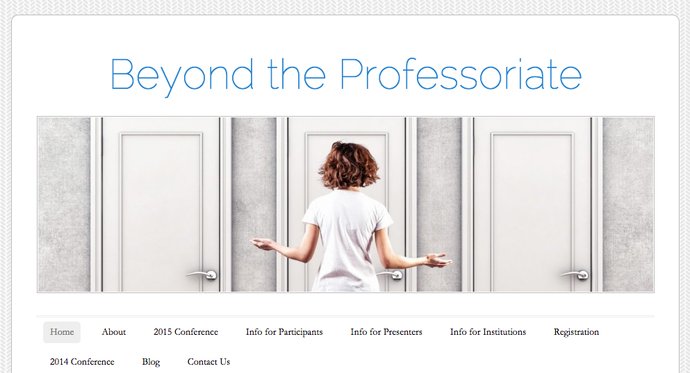 Banner for Beyond the Professoriate